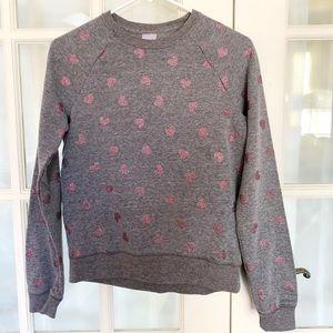 GIRLS Athletic Works Grey w/ Pink Heart Sweatshirt